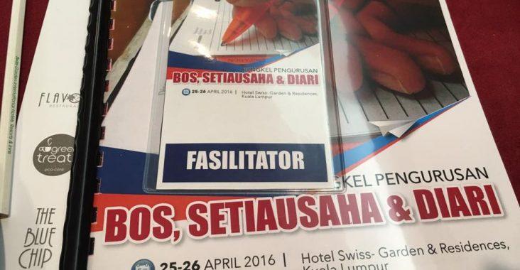 Bengkel Pengurusan Bos, Setiausaha & Diari | UTM Space | 25-26 April 2016