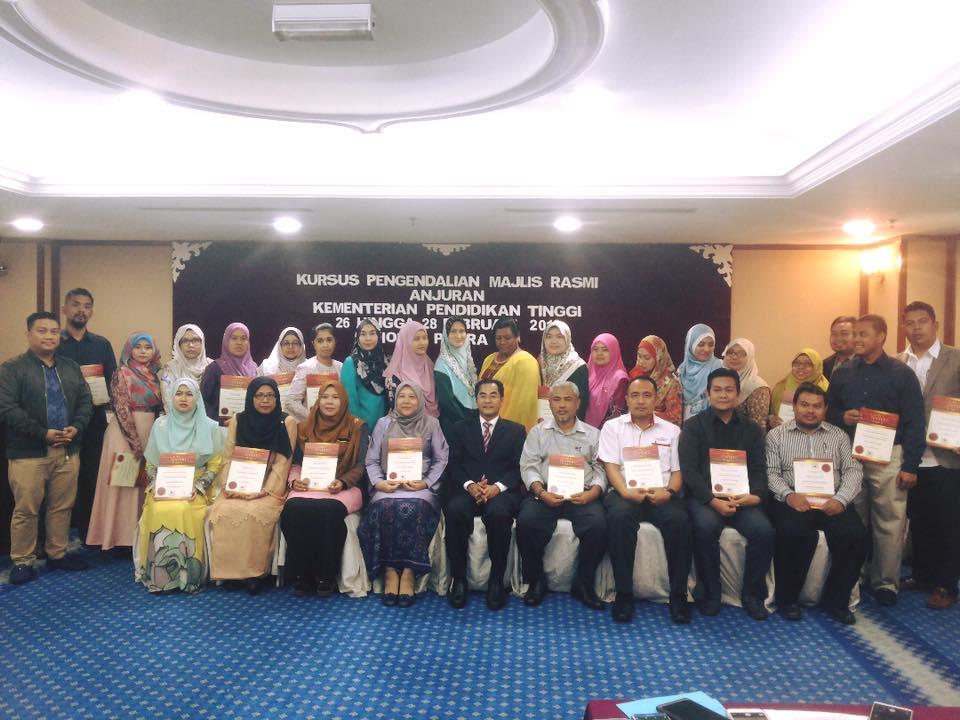 Kursus Protokol Dan Pengendalian Majlis Rasmi KPT Malaysia