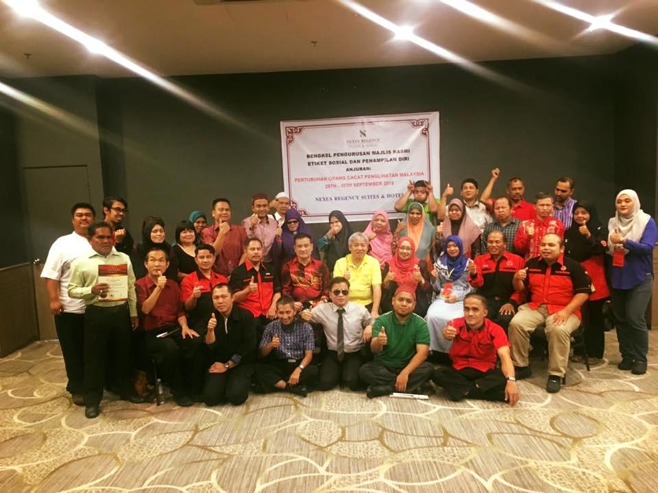 Bengkel Pengurusan Majlis Pertubuhan Orang Cacat Penglihatan Malaysia Pada 28-30 September 2018