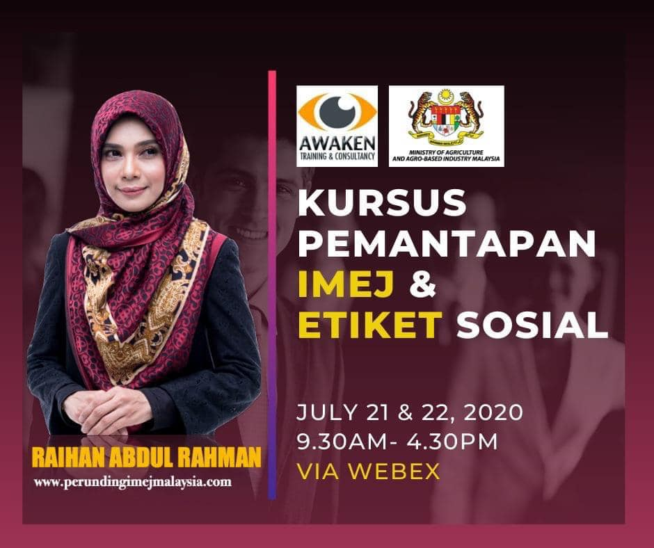 Kursus Imej ProfesionalOnline Institut Pengurusan Veterinar (IPV) Pada 21 hingga 22 Julai 2020